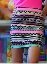 Retro Style Geometric Printed Bodycon Skirt For Women