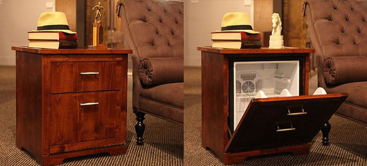 Man Tables Mini Fridge End Tables A Well Crafts And