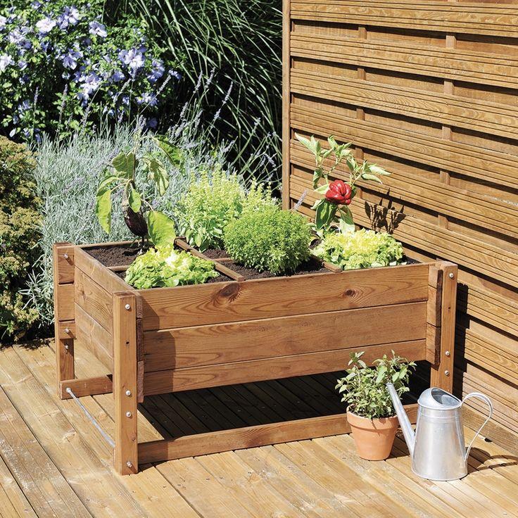 Les 26 meilleures images du tableau bac jardinage en for Bac jardinage sureleve