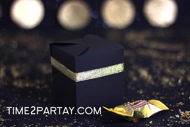 Time to Partay!: Hajj Mubarak!- #Hajj #Kaaba #Black #gold #decorations #eid #box #favors #treats