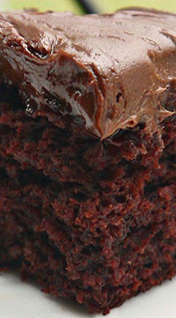 Wacky Cake With Brown Sugar Icing