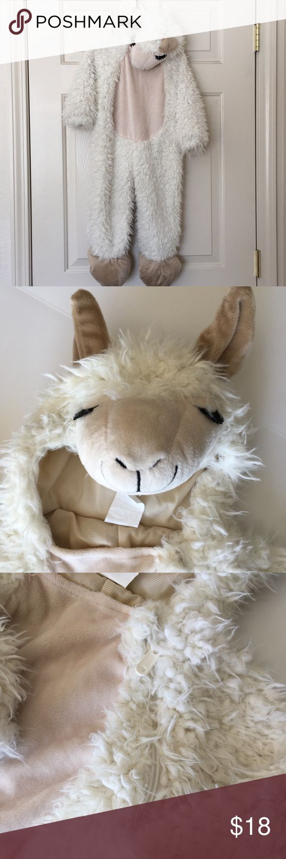 Halloween Llama Costume Get this super adorable llama costume for your little animal for dress up or Halloween.   🌿Worn once  🌿Keeps baby warm 🌿In really good condition 🌿Smoke free home Costumes Halloween