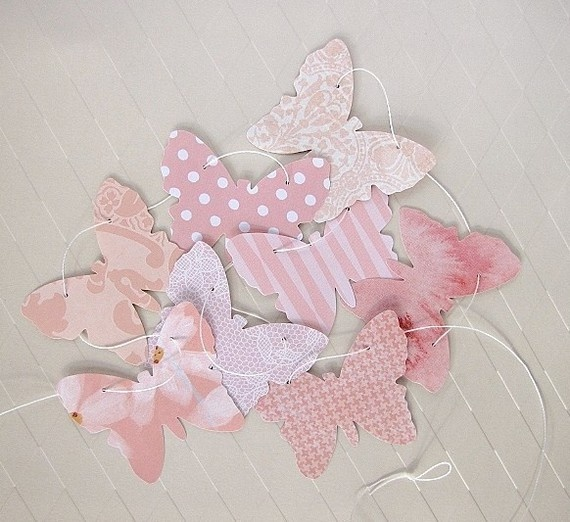 paper butterfly garland by paperklipdesign on etsy
