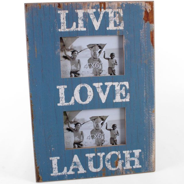 Live laugh Love Wooden Shabby Chic Photo Frame (approx 38.5cm x 27cm)