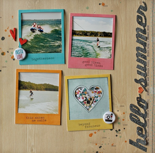 diane payneStudio Calico, Diane Payne, Pictures Layout, Scrapbook Layouts, Polaroid Frames, Cute Ideas, Scrapbook Pages, Hello Summer, Scrapbooking Layouts