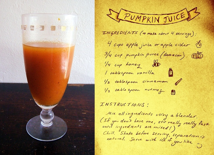 Pumpkin juice might just try this one day