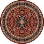 Sensation Red 7 ft. 10 in. Round Traditional Area Rug