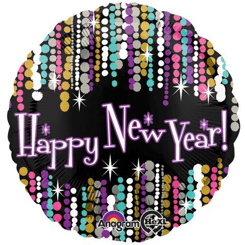 New Year Pizzazz balloon