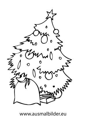 ausmalbild sack mit geschenken mit bildern | ausmalbilder, ausmalbilder weihnachten, ausmalen