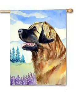 Leonberger Dog Flag Large Canvas House Flag 28x40 Inches by CTI. $39.99. House flag is made from a 100% polyester heavy weight canvas material. Not your typical house flag that you might find from a mass merchant.  This flag is much heavier than most flags currently being sold by other manufacturers. This flag is fade resistant and weather proof. The flag measures approximately 28 inches x 40 inches (wooden flag pole, hanging bracket or yard stand sold seperaletly)