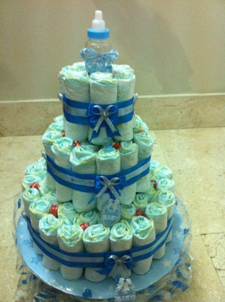 3 floors Diaper Cake..design for baby shower..