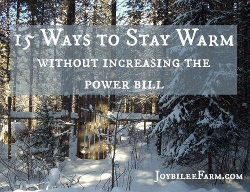 How can you stay warm when the temperature is dropping fast? While in the city and even in the country in a home on the grid you can simply turn up the thermostat.  That will increase your power costs.  Is there a way to maintain your frugal lifestyle and still keep warm on the homestead?