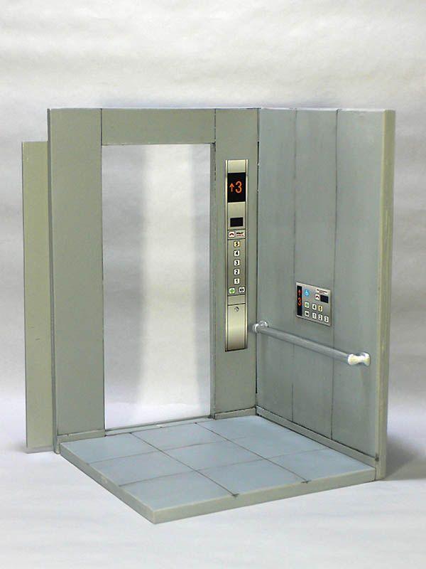 1 12 エレベーター 1 12スケールフィギュアにぴったりの情景用