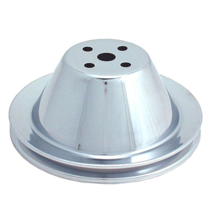 Spectre Performance 4368 Chrome Plated Crankshaft Pulley for Small Block Chevy SPE-4368