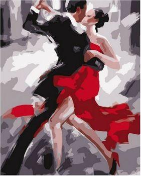 Bricolage peinture 16 x 20 polegada Kit peinture par numéro tango dancers peinture à l'huile pas de cadre