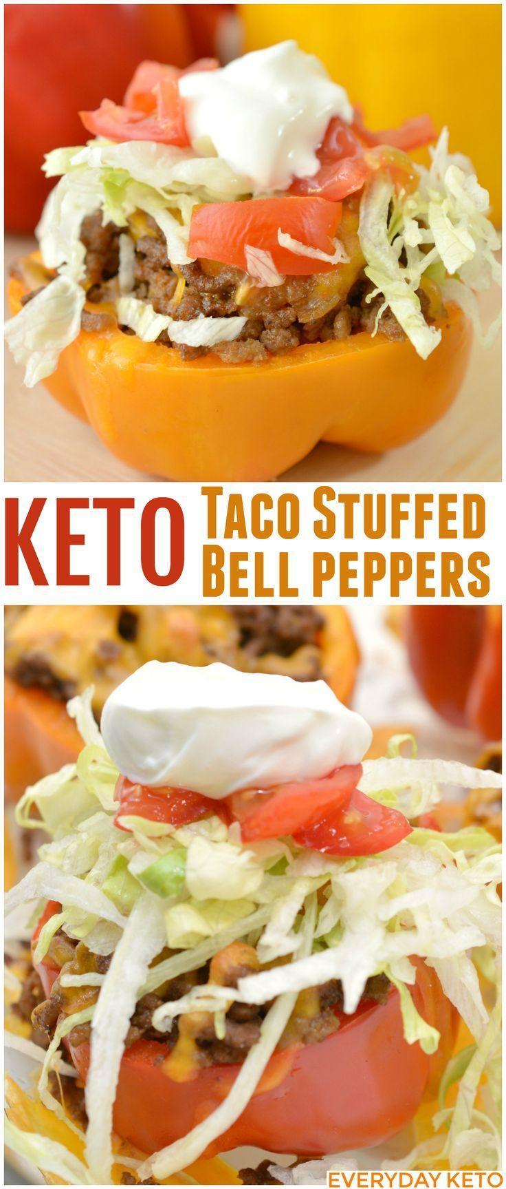 Keto Stuffed Bell Peppers Everyday Ketogenic Recipe Stuffed Peppers Keto Taco Recipes