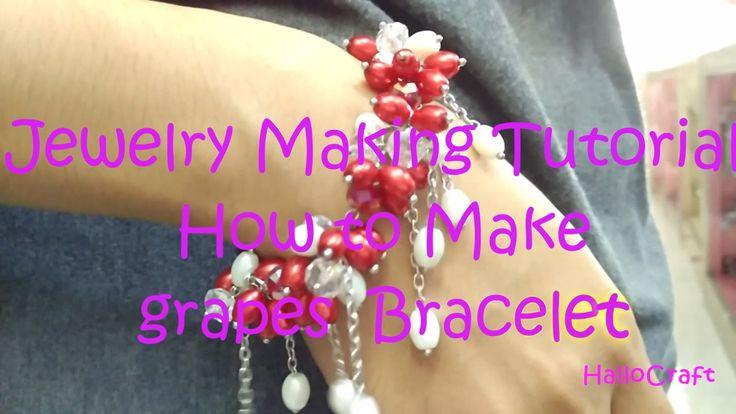 Jewelery Making Tutorial - How to make Grapes bracelet | Cara Membuat Ge...