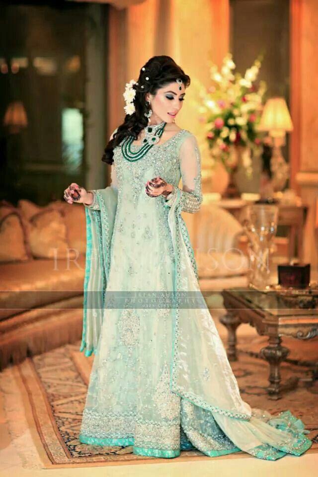 Mint green engagement dress
