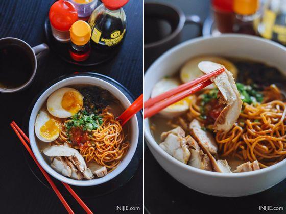 Ramen Nozomi -  Chicken Red Spicy Ramen. Address:Jl. M.H Thamrin 77 - 79 Surabaya. Phone : (031) 5680586