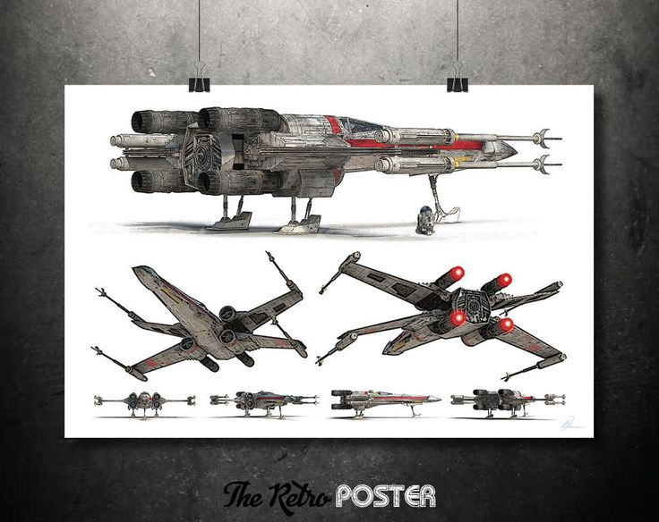 Star Wars Poster - X-Wing Star Fighter- Star Wars Gift, Star Wars Print, Star Wars Art, Star Wars Canvas, Fantasy Art, Sci Fi, Space Art by TheRetroPoster on Etsy