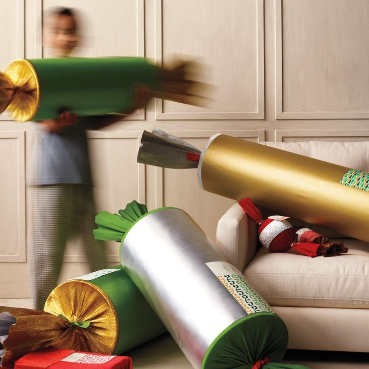 Oversize Paper Christmas Cracker and more on MarthaStewart.com