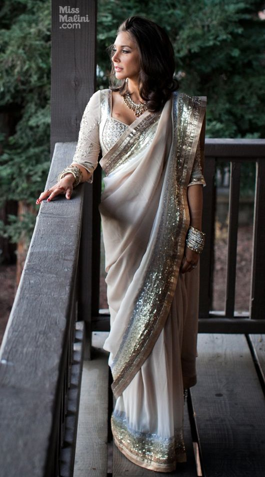 Lisa Ray wedding sari