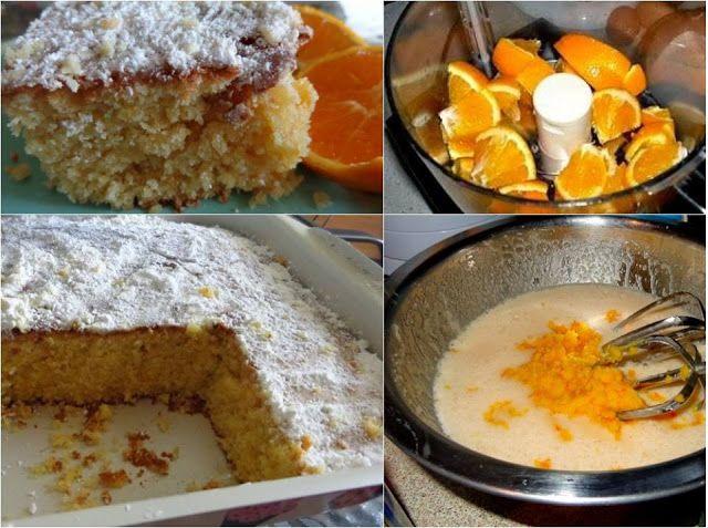Κέικ με ολόκληρο πορτοκάλι Θεικό !!