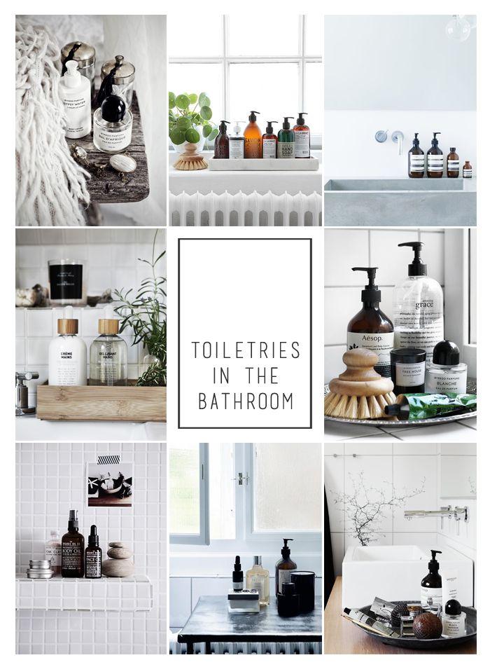 Toileteries in the bathroom