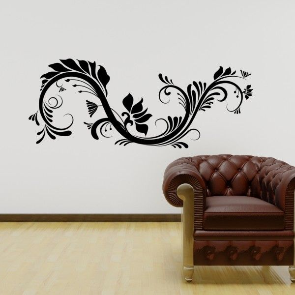 Best Florales Ornamentales Images On Pinterest Wall Decals - Vinyl wall decals abstract