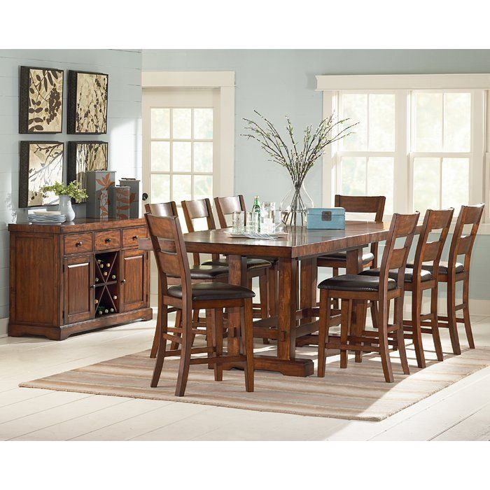 Nation 9 Piece Counter Height Extendable Dining Set Counter