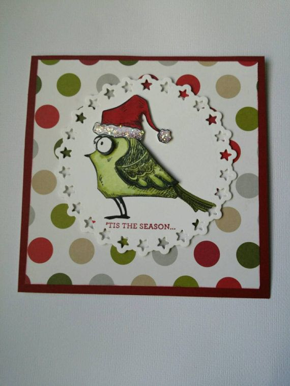 Check out this item in my Etsy shop https://www.etsy.com/au/listing/255600603/a-handmade-christmas-greeting-card-bird