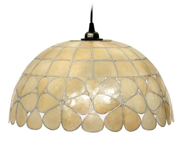 Lámpara de techo en nácar I - beige   Westwing Home & Living