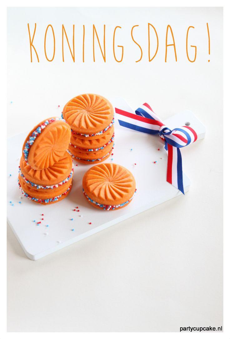 Ga jij nog wat lekkers maken voor Koningsdag? Wat dacht je van deze zonnewieltjes geheel in stijl!