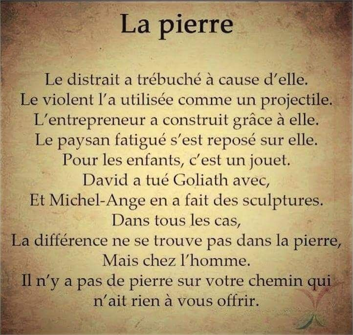 La Pierre...