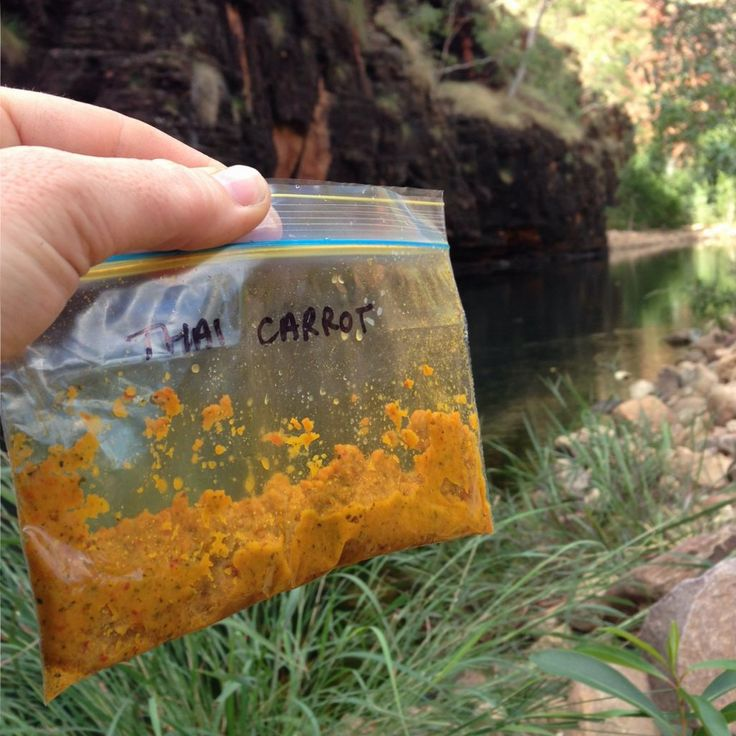 One of the yummiest and easiest lunches when hiking, is hummus. Here's how I go…