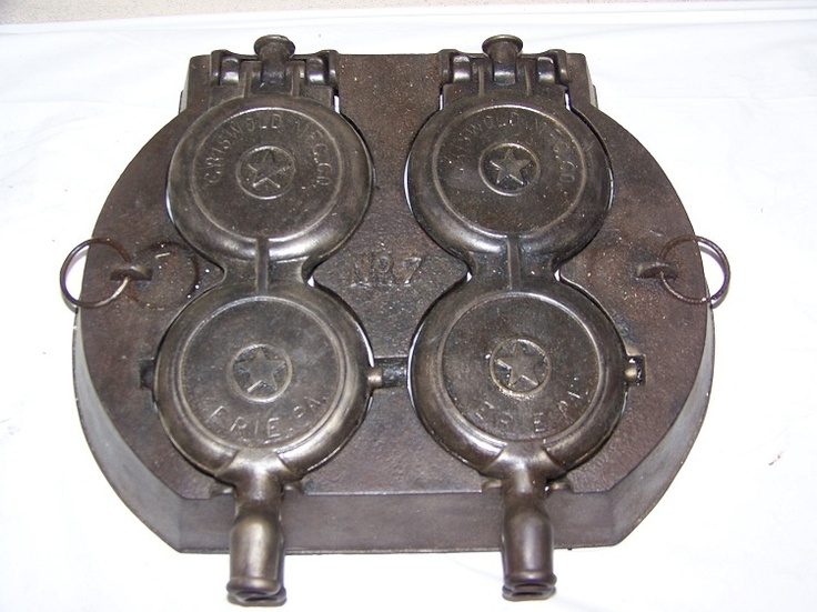Rare Vintage Cast Iron Griswold Erie. Pa. No. 7 French Waffle Maker Pat.1880   eBay
