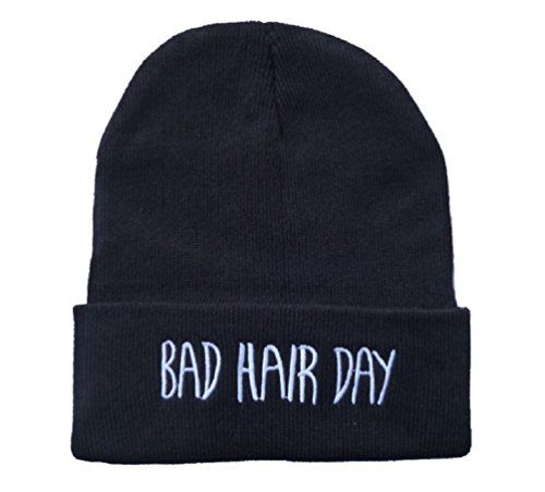 Knit Black Bad Hair Day Beanie Hat Letter Beanie Sunriseo Hat http://www.amazon.com/dp/B00H48QVOU/ref=cm_sw_r_pi_dp_e4q9tb1X1HMGG