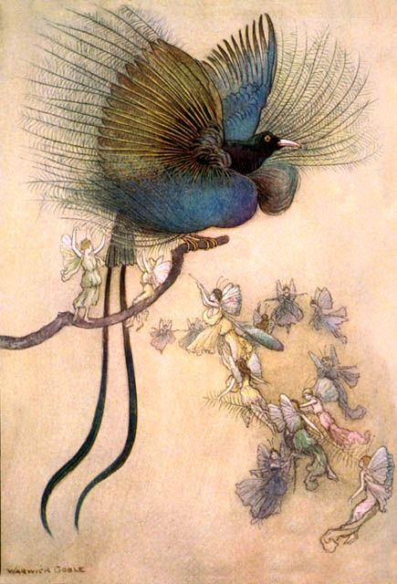 Warwick Goble - fairies and bird of paradise