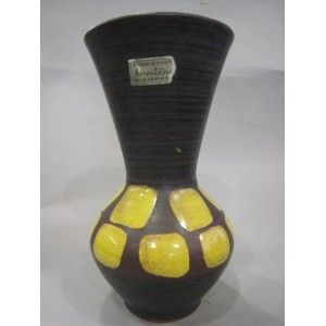 Carstens vase 1960/70s Black and yellow