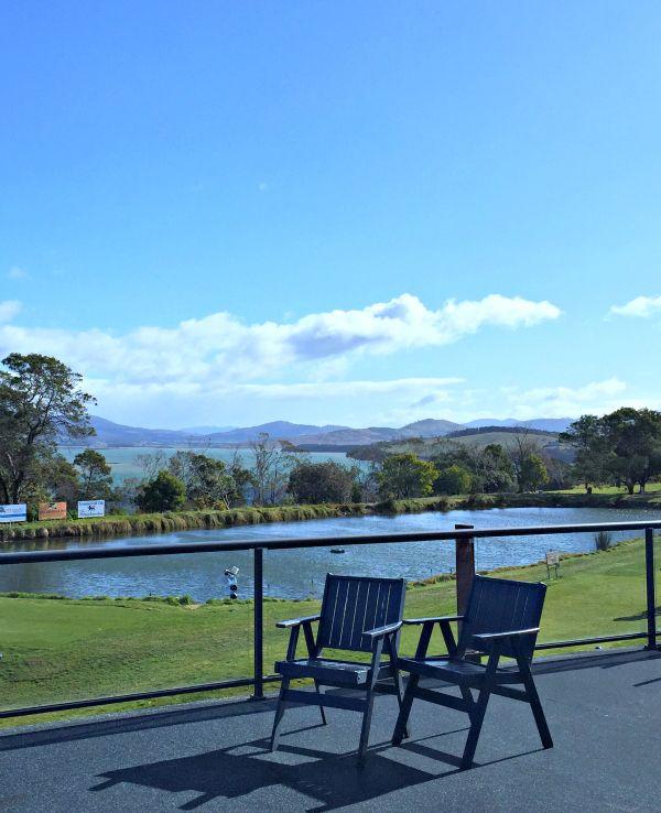 Tasmania Golf Club - View from Restaurant Article and photo for think-tasmania.com #foodie #golf #Tasmania