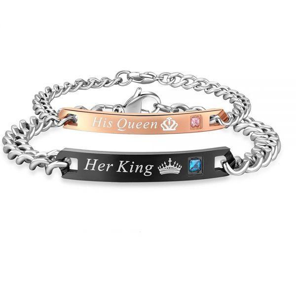 Anium Steel Love Chain Valentine 8217 S Day Bracelet Gift For Men Women