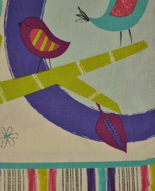 11931 206 Teal Birds | Robert Kaufman Fabric | Amy Schimler | Fly Away