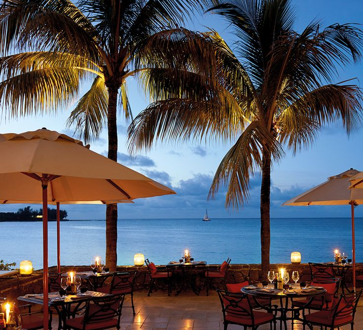 Enjoy gourmet cuisine overlooking a moonlit ocean at Royal Palm Hotel in Mauritius. The perfect hotel to celebrate a special birthday. #celebrate #birthday #cuisine #romance #couples