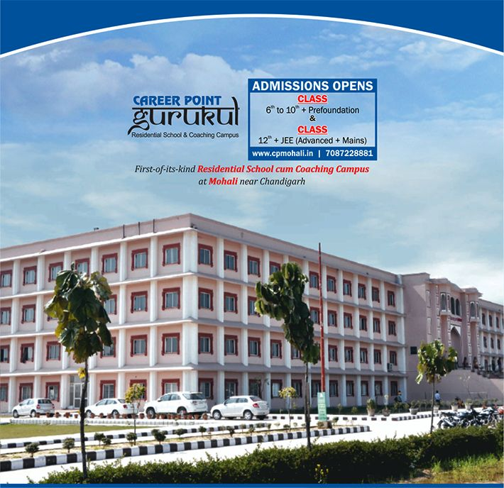 Career Point Gurukul, Mohali (#CPMohali) #AdmissionsOpen for Class 6th to 10th + Prefoundation & 12th + JEE (Advanced + Mains) Hurry Up #Students!! Limited #Seats Also explore us at www.cpmohali.in or call 7087228881/2