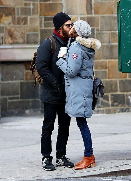 Эндрю Гарфилд и Эмма Стоун поцеловались на улице Нью-Йорка