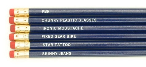 Hipster Pencil Set (http://www.wordon.com.au/products/hipster-bingo-pencil-set.html)