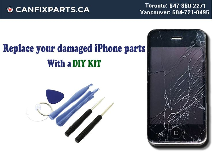 You can replace your damaged #iphone parts with help of a #DIY #KIT! Place your order now! Reach us at +1 647-860-2271/ 604-721-8495 #repair