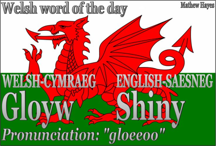 Welshword of theday:Gloyw/Shiny