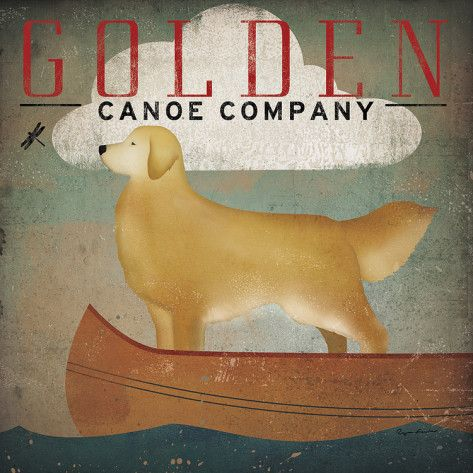 Golden Dog Canoe Co. Prints by Ryan Fowler at AllPosters.com ~ i have this canvas print hanging on our pool house. LOVE!!