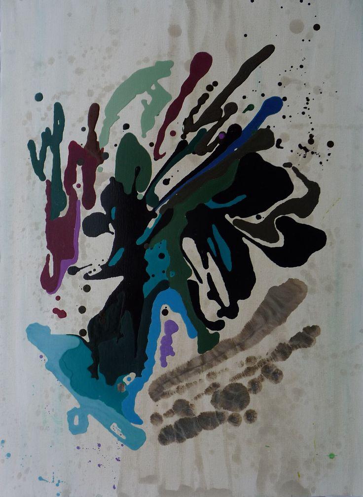 Viaggio XXXII Oil on Paper 90x60cm